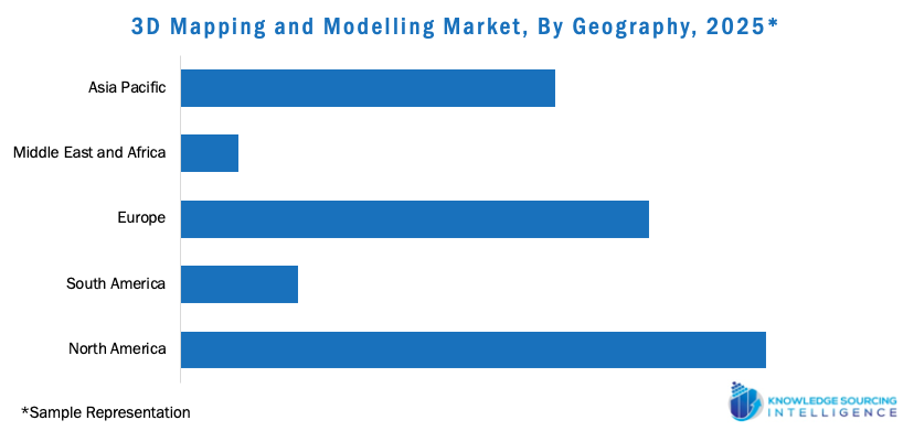 3d mapping and modelling market, by geography, 2025